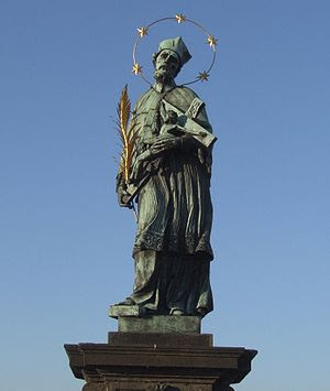 The statue of John of Nepomuk. On 20 March 139...