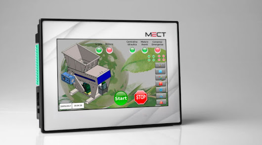 PLC con HMI Monitor Touch-Screen TPAC1008 | MECT