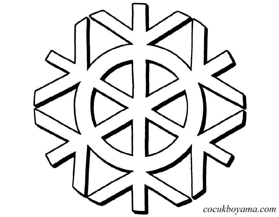 Kar Tanesi 11 ücretsiz Boyama Resimleri