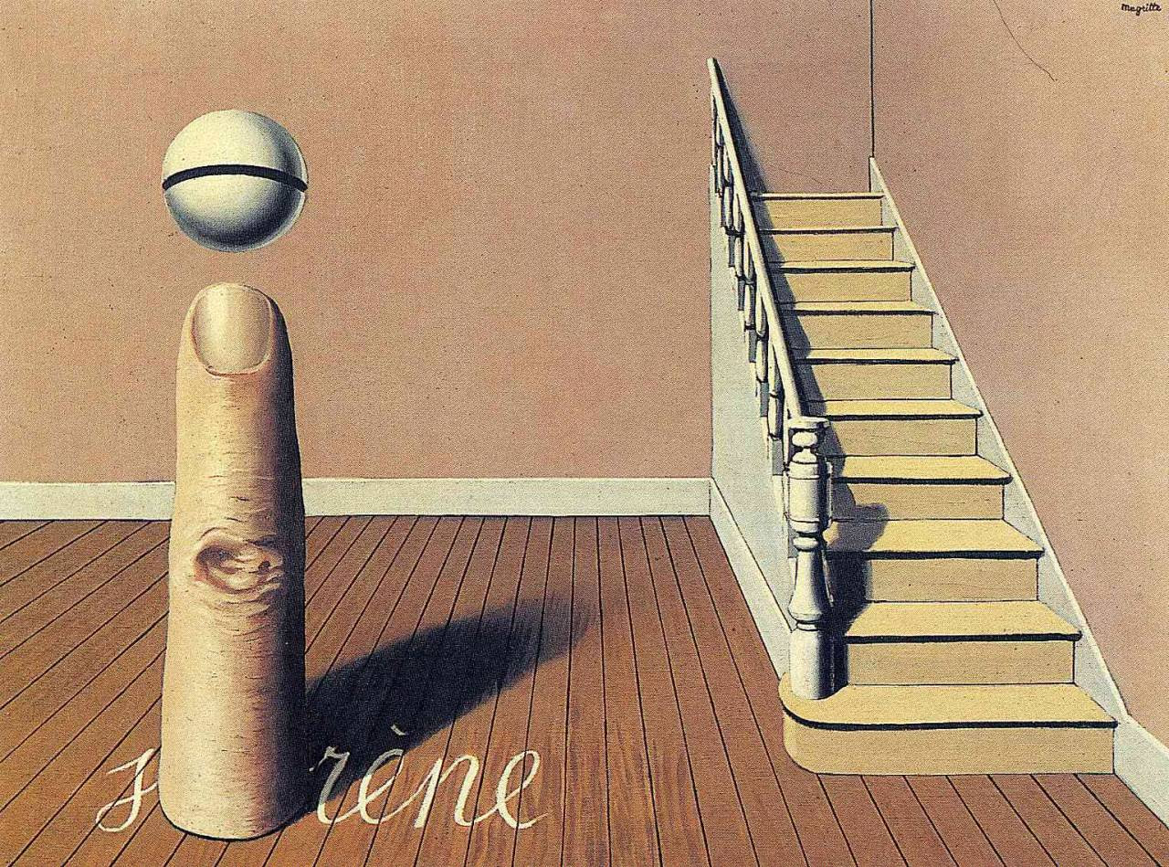 Forbidden literature (The use of the Word), 1936 Rene Magritte