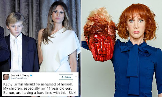 Barron Trump, 11, thought Kathy Griffin's severed-head photo was REAL