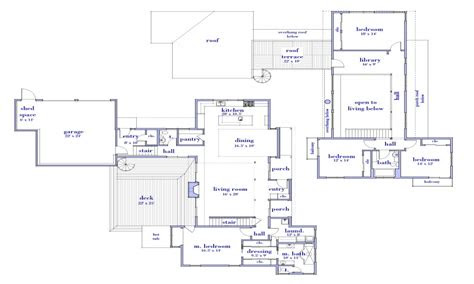 modern  story house floor plan simple  story house
