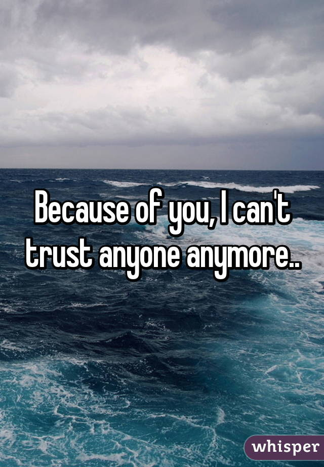 Because Of You I Cant Trust Anyone Anymore