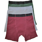 Stashitware Stash Pocket Boxer Brief Variety 3 Packs Men's Red, Grey, Green