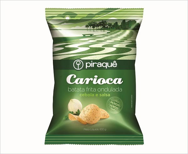 Carioca Potato Chips Packaging designs 3 30+ Crispy Potato Chips Packaging Design Ideas