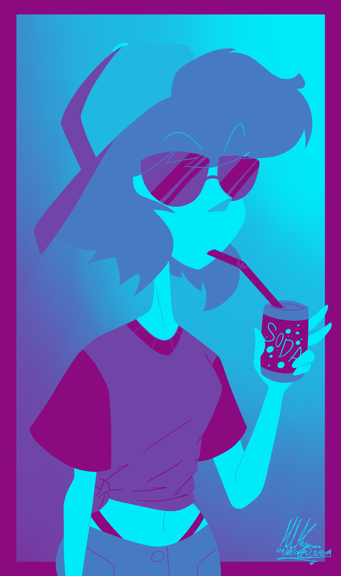 "Lapis in the ""sodas and skateboards"" Palette! (requested by anon) Go here to request a palette!"