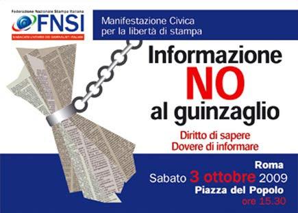 Manifestazione per la libertà di stampa