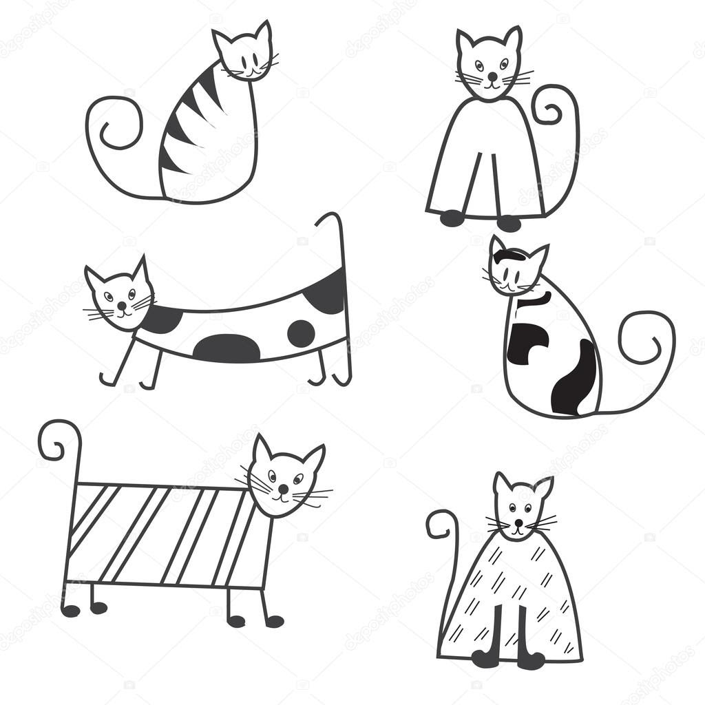Black And White Cat Drawing at GetDrawings | Free download