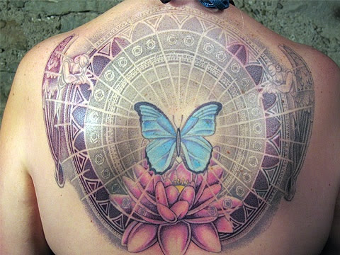 Energy Tattoo Butterfly Lotus Angel Wing Memorial Flowers Angels
