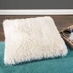 Lavish Home 66-04-B 24 x 24 x 8 in. Shag Floor Pillow Beige