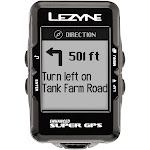 Lezyne Super GPS Loaded Bike Computer - GPS, Wireless, Heart Rate Monitor, Speed, Cadence, Black - Bike Computers and Cycling Accessories from