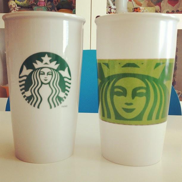 Starbucks glass mugs