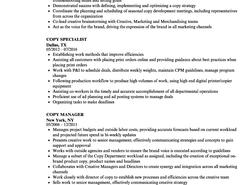 copy resume examples  best resume examples