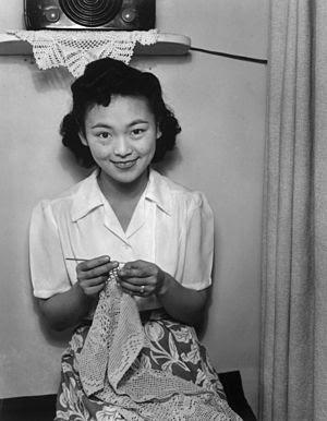 Mrs. Dennis Shimizu, photographed at Manzanar ...