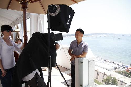 Ming Jin in photo shoot