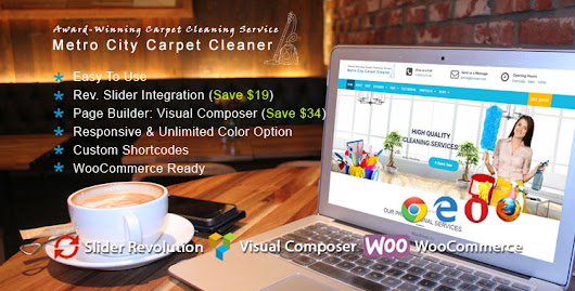 Carpet Cleaner WordPress Theme : Website Template For Cleaning Services
