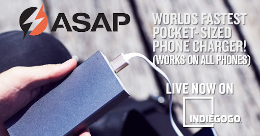 CLICK HERE to support ASAP Dash: World's Fastest Pocket-sized Charger