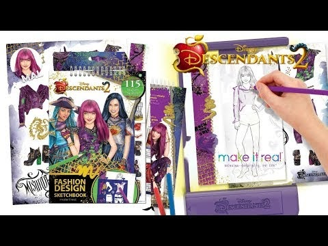 Miss Artie Craftie Disney Descendants 2 Fashion Design Tracing Light Table From Make It Real