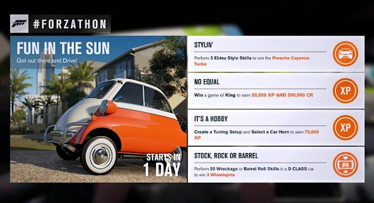 "#Forzathon June 23-25th: Time for some ""Fun in the Sun"""