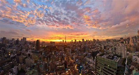 Sunset japan clouds landscapes tokyo cityscapes golden