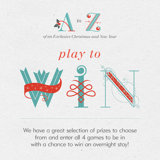 Play our festive word games to win an overnight stay with Exclusive Hotels and Venues