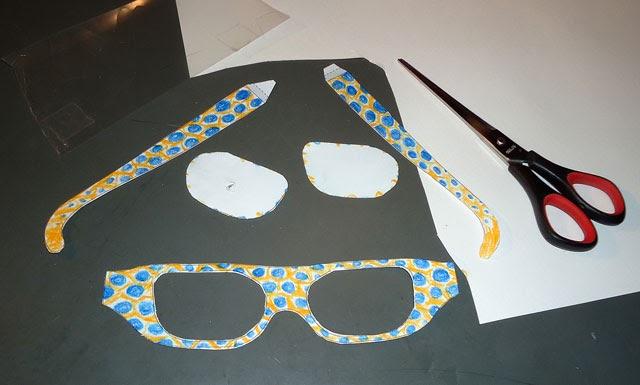 brillen bastel vorlage  sie können für einen kleinen