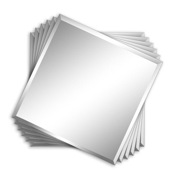 diy beveled mirror tile overmantel, fireplaces mantels, home decor, home improvement, living room ideas, wall decor, via Lowe s