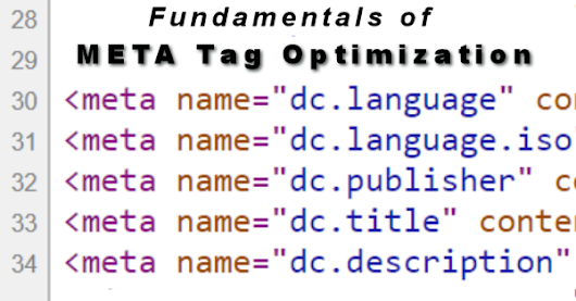 Fundamentals of META Tag Optimization