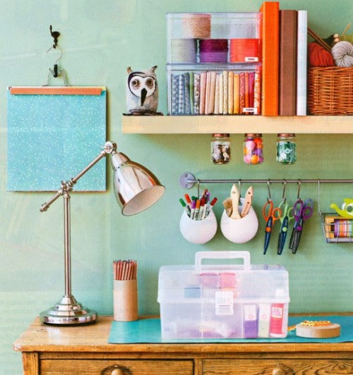 organized workspace (via Apartment Therapy Ohdeedoh)