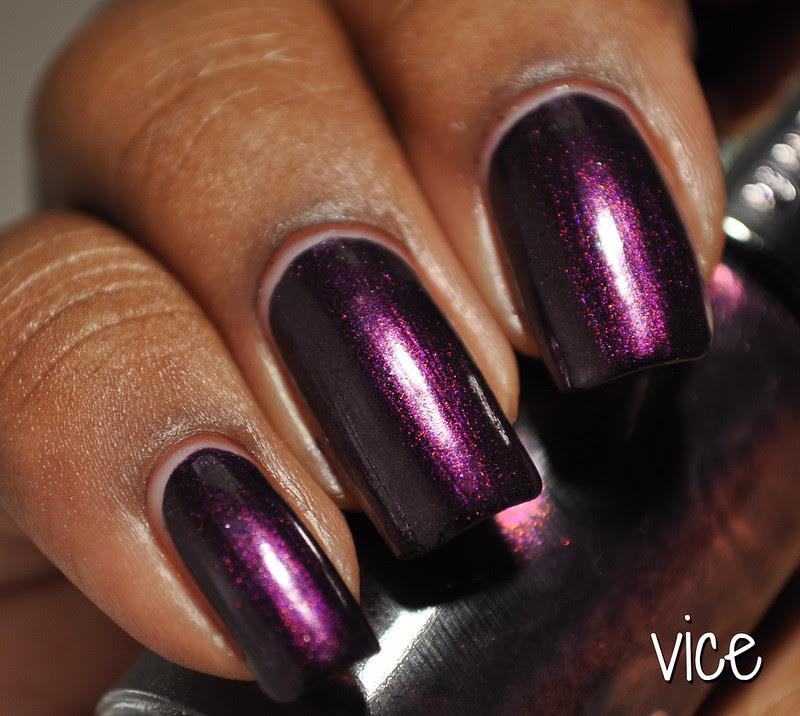 deep purple shimmery nail polish vice