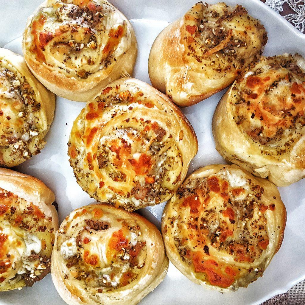 Low Fat Stuffed Bread Rolls - Ghina's Bakings