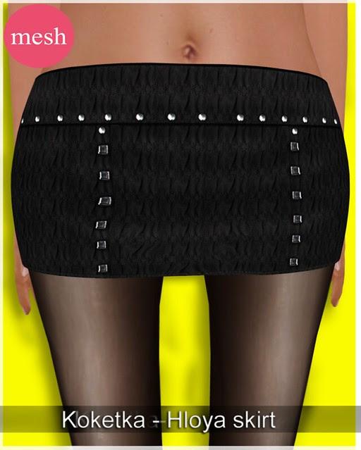 Koketka-Hloya skirt-MESH- for The Whore Couture Fair 2012