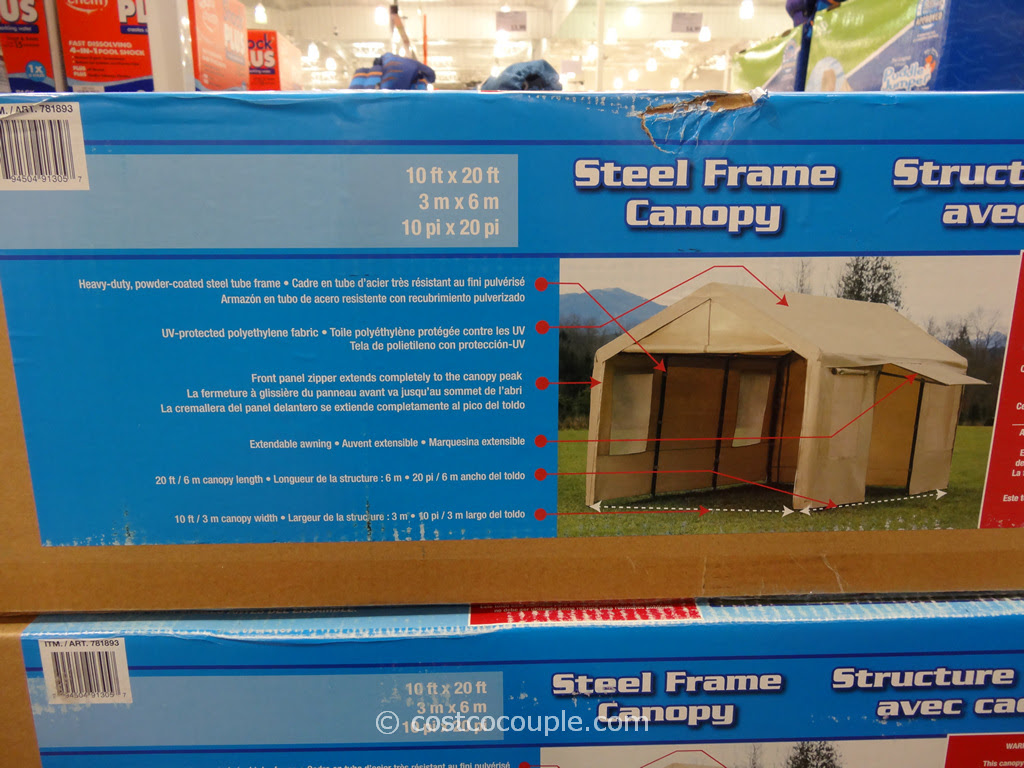 Steel Frame Canopy With Side Walls