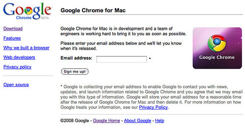 Google Chrome for Mac by Régis Gaidot.