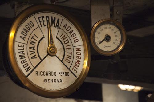 Concordia, Lago di Como: sala macchine