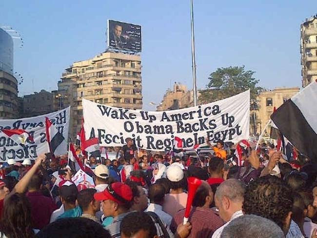 egypt Egypt deposes the Muslim Brotherhood: the best Anti Obama banners
