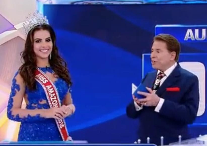 Silvio Santos constrange Miss Amazonas com