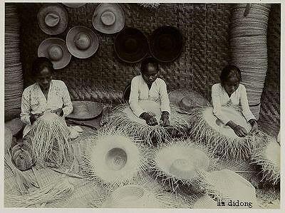 pengrajin topi bambu tempo dulu