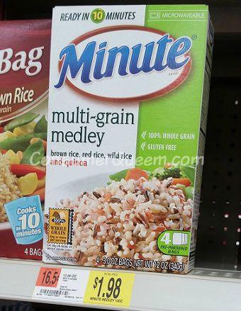 Minute Rice Multi-Grain FREE at Walmart & Homeland ...