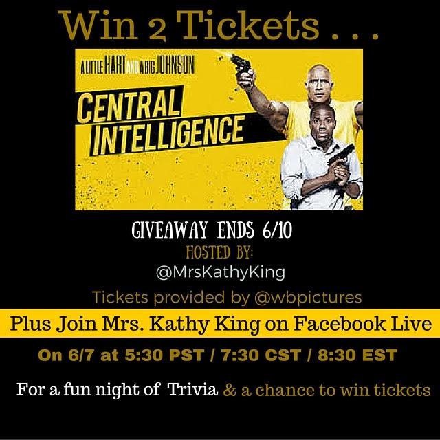Enter the Central Intelligence Ticket Giveaway. Ends 6/10