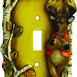 Cute Deer Single Switch Cover