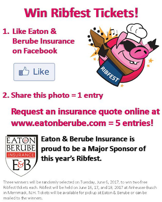 Win Free Tickets to Ribfest 2017 from Eaton & Berube Insurance!