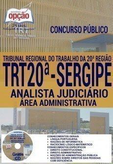 Apostila Concurso TRTSE20ª Região ANALISTA JUDICIÁRIO - ÁREA ADMINISTRATIVA