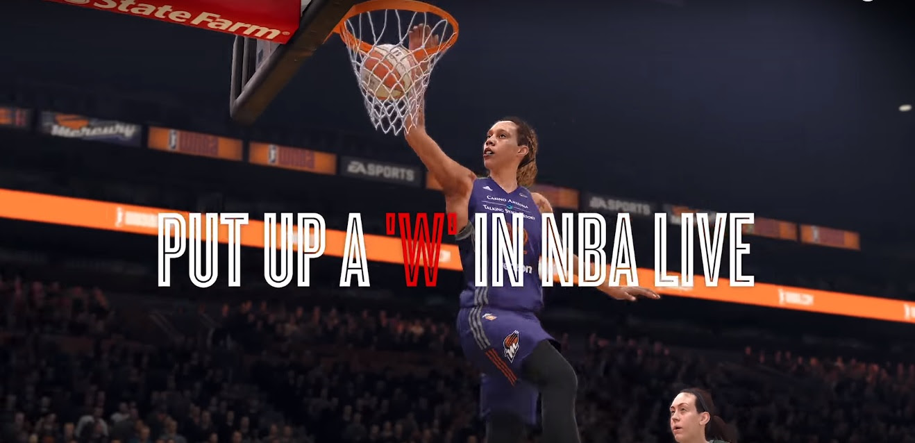 WNBA stars to appear in NBA Live 18 screenshot