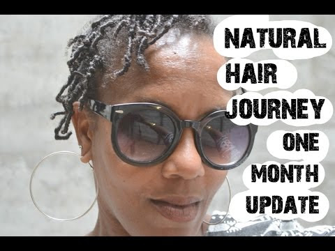 Natural Hair Journey - Continuing my journey - 1 MONTH UPDATE - Video #3