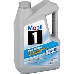 Mobil 1 (120769) High Mileage 5W-30 Motor Oil - 5 Quart