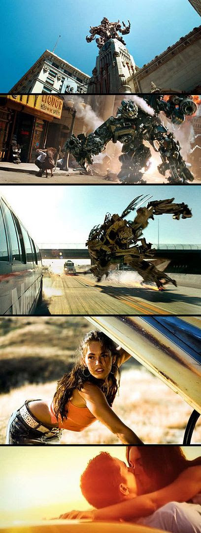 TRANSFORMERS: The Movie montage.
