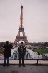Senja di Eiffel Tower, Paris, France