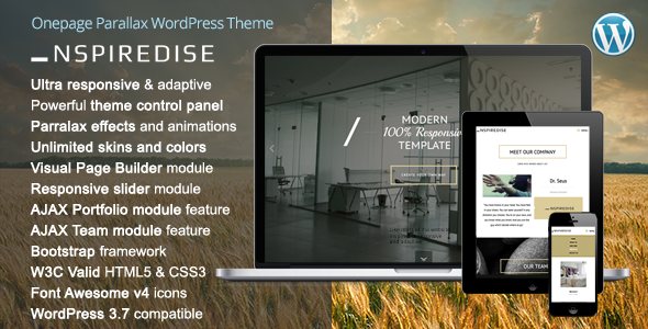 _NSPIREDISE Parallax  Portfolio WordPress Theme
