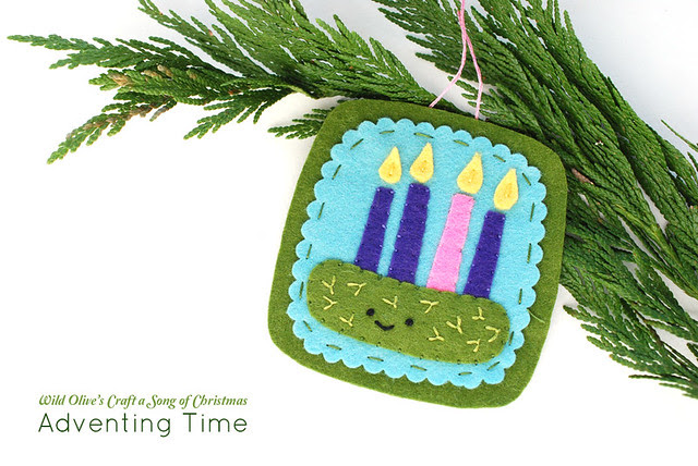 Adventing Time Felt Ornament